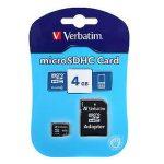 Verbatim micro sd 4gb class 4 adattatore